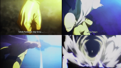 Hissatsu Maji Shirizu: Maji Naguri (Pukulan Serius) - Saitama (One Punch Man)