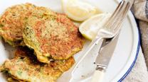 Mussel and zucchini fritters ( SERVES 3 )