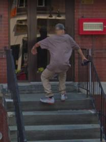 Google Maps Captures Man Falling Down The Steps