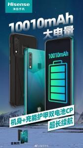 The HiSense King Kong 6 splits a 10,010mAh battery between the phone and its case
