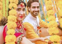 Sheena Bajaj and Rohit Purohit look gorgeous at their Mehendi and Haldi ceremony