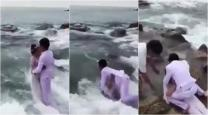 VIDEO: This ROMANTIC wedding photoshoot by the beach went HORRIBLY wrong